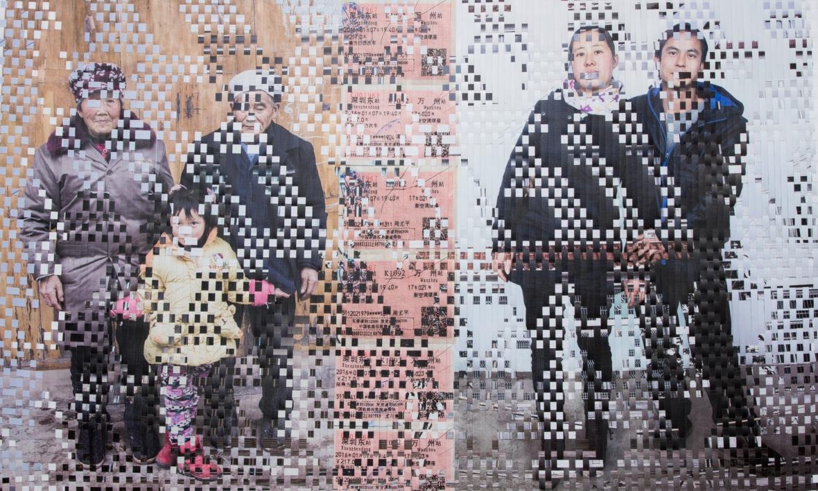 《农民志.全家福》,向承美, 2014, 130x90cm
